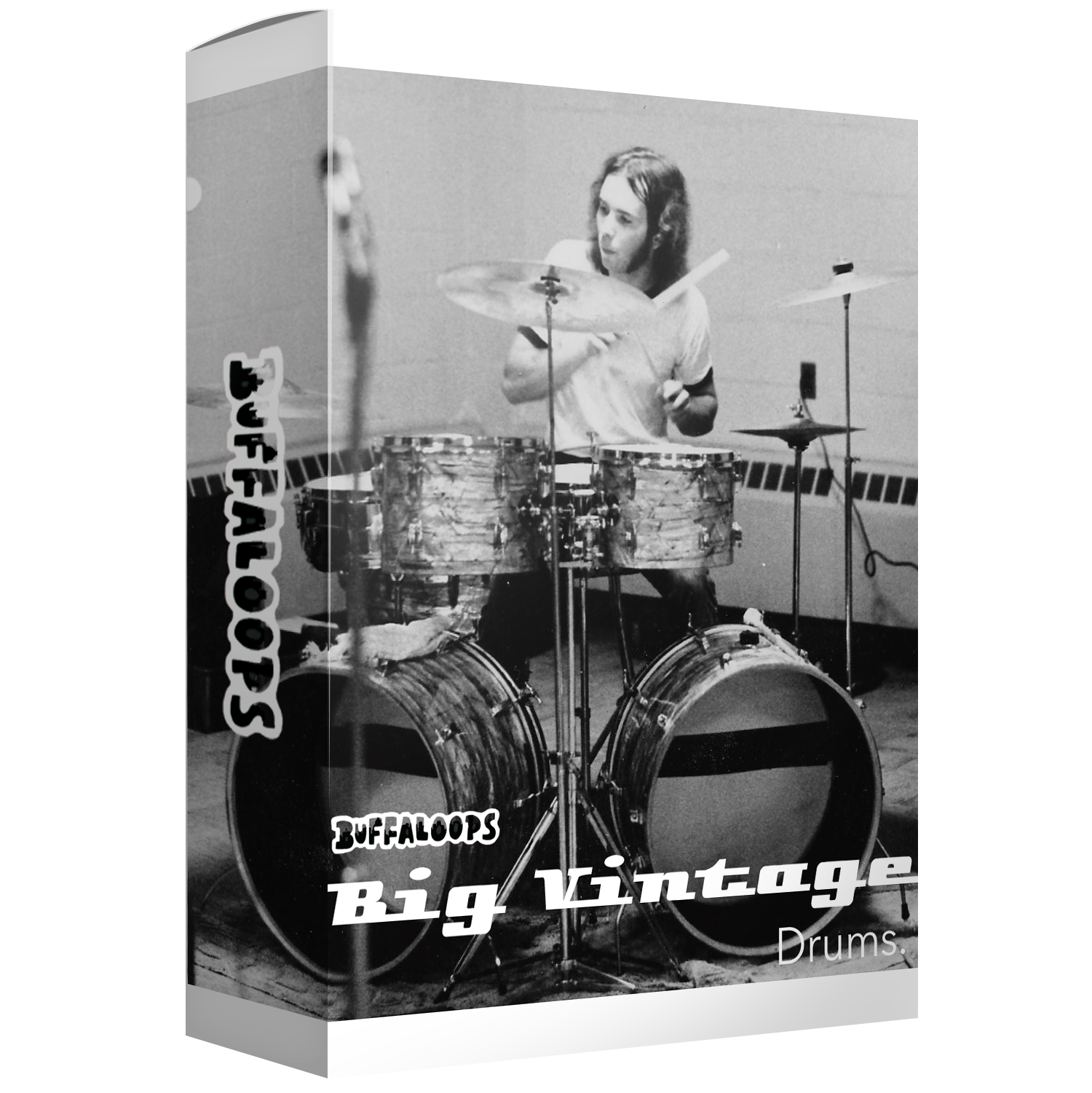 Vintage Drum Samples and Pack with Loops, Hits, and One Shots by Buffaloops