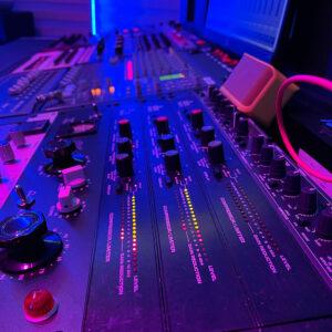 Buffaloops Studio Mixing Board used to make professional royalty free loops, samples, one shots, and drum kits.